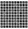 100 webdesign icons set grunge style vector image vector image
