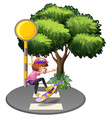 A girl skateboarding at the street vector image vector image