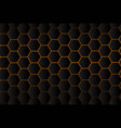 abstract dark hexagon pattern with technology vector image vector image