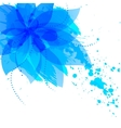 Abstract flower with blue blots vector image