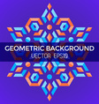 abstract geometric blue orange red jewels star vector image