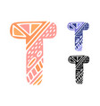 alphabet letter t kids education poster or vector image vector image