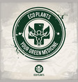 alternative eco plants stamp vector image