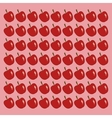 apple pattern background healthy food icons image vector image