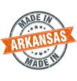 Arkansas orange grunge ribbon stamp on white vector image vector image