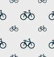 Bicycle bike icon sign Seamless pattern with vector image