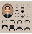 Big set Haircuts glasses beard mustache vector image vector image