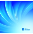 Blue luminous waves vector image vector image