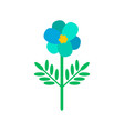 blue primula flower in cartoon style icon vector image vector image