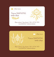 boho shop hand drawn business cards vector image vector image