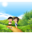 Boy and girl from Thailand vector image vector image