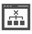 browser with choice solid icon computer decision vector image vector image