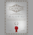 certificate template with border combination vector image