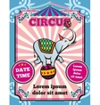 Circus carnival color vintage template