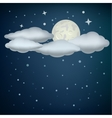 clouds and moon vector image vector image