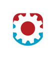 creative simple gear logo design gear and cogs vector image vector image