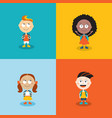 cute kids ready go back to school cartoon vector image