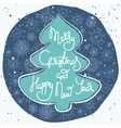 Cute xmas greeting card with fir tree vector image