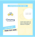 cycle company brochure template business template vector image vector image