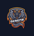dragon esport gaming mascot logo template for vector image vector image