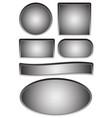 empty plates plaques vector image
