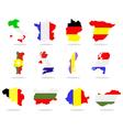 European maps vector image vector image