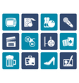 Flat Leisure activity and objects icons vector image vector image