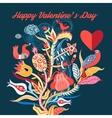 floral background with birds in love vector image vector image