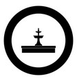 fountain icon black color in circle vector image
