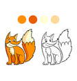 fox coloring book vector image