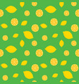 fruits lemon seamless patterns vector image vector image