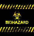 Grunge biohazard vector image vector image