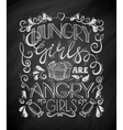 Hungry Angry Girls vector image vector image