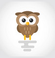 icon a cute cartoon owl in flat design vector image