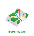 isometric delivery map with pin icon vector image vector image