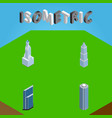 isometric skyscraper set of skyscraper vector image vector image