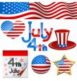 July 4th symbols vector image vector image