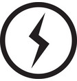 lightning bolt icon flash icon vector image vector image