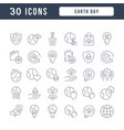 line icons earth day vector image vector image