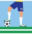 man legs playing football vector image vector image