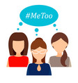 me too womens movement against sexual assault and vector image