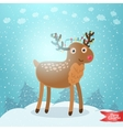 Merry Christmas greeting card with deer vector image vector image