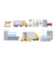 milk automated factory production line process vector image vector image