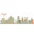 ningbo china city skyline with color buildings vector image vector image