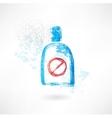 No drinks grunge icon vector image