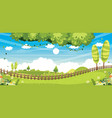 of nature background vector image