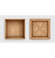 open and closed containers of old planks vector image