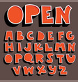 orange 3d font collection vector image vector image