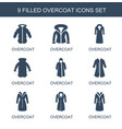 overcoat icons vector image vector image