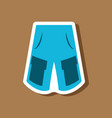 paper sticker fashion clothes shorts vector image vector image